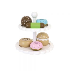 Ξύλινα Donut με βάση σερβιρίσματος