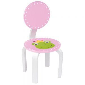 Ξύλινη καρέκλα Ροζ με βατραχάκι