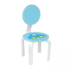 Ξύλινη καρέκλα Μπλέ με αυτοκίνητο