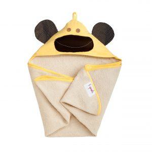 3 sprouts πετσέτα με κουκούλα Yellow Monkey