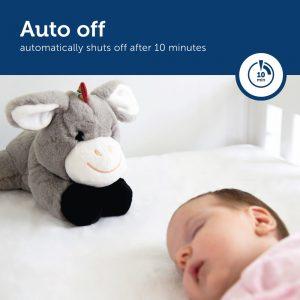 Γάιδαρος DON ύπνου μωρών νανουρίσματος με χτύπο της καρδιάς & λευκούς ήχους ZAZU