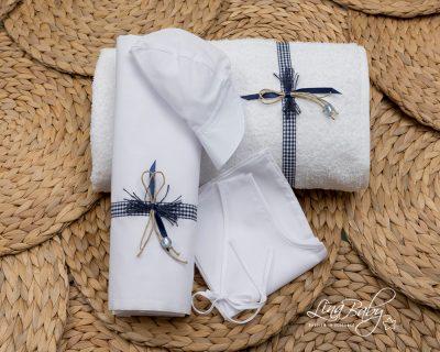 Καρό Μπλε Φιογκάκι |Plaid Blue Bow